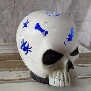 Rotating spinning LED skull Halloween decor sound